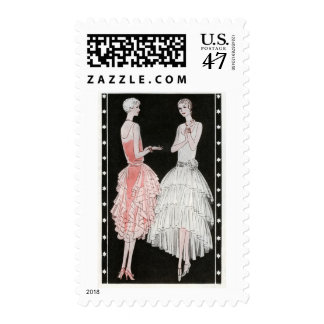 Vintage 1920s Fashion Postage Stamps