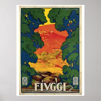 Vintage 1920s Fiuggi Italian travel ad Posters
