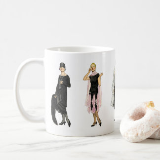 Vintage 1920s Flapper Fashion Coffee Mug