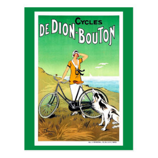 Vintage 1920s French bicycle ad Postcard