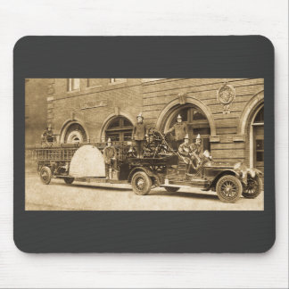 Vintage 1920s Hook and Ladder Fire Company Mouse Pad