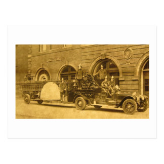 Vintage 1920s Hook and Ladder Fire Company Postcard
