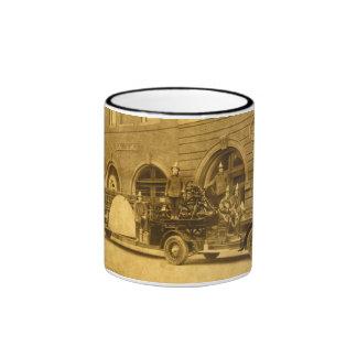 Vintage 1920s Hook and Ladder Fire Company Ringer Mug