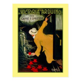 Vintage 1920s Italian coffee machine ad Postcard