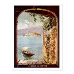 Vintage 1920s Lago d'Orta Italian travel poster Post Card