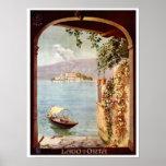 Vintage 1920s Lago d'Orta Italian travel Print