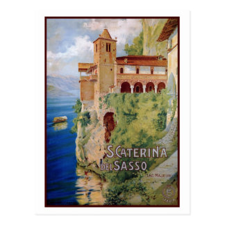 Vintage 1920s Lake Maggiore convent Italian travel Postcard