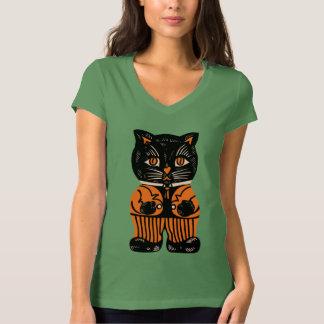 Vintage - 1920s Little Halloween Cat T Shirt