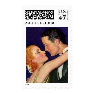 Vintage 1920's Lovers - Wedding Stamps