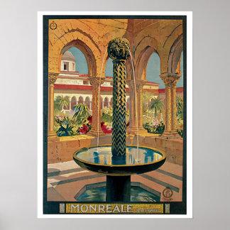 Vintage 1920s Monreale Italian travel ad Posters