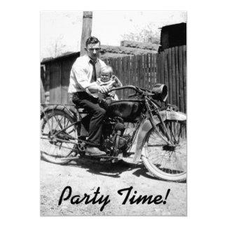 Vintage 1920s Motorcycle Birthday Card