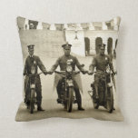 Vintage 1920s Motorcycle Cops Pillows