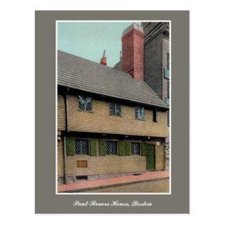 Vintage 1920s Paul Revere House Boston MA Postcard