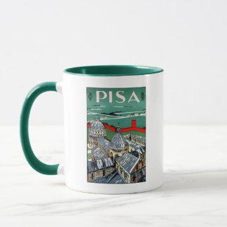 Vintage 1920s Pisa Italian travel Mug