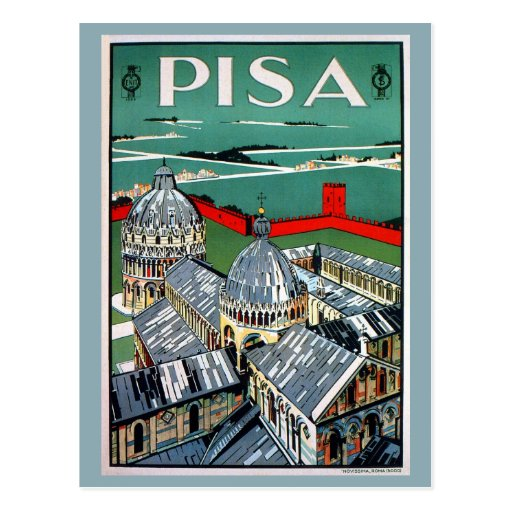 Vintage 1920s Pisa Italian travel Post Cards
