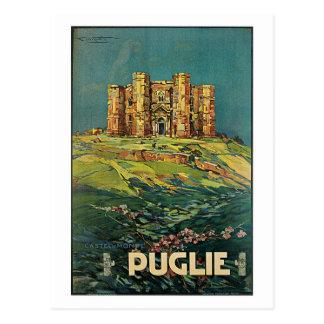Vintage 1920s Puglia Italy travel Ad Postcard