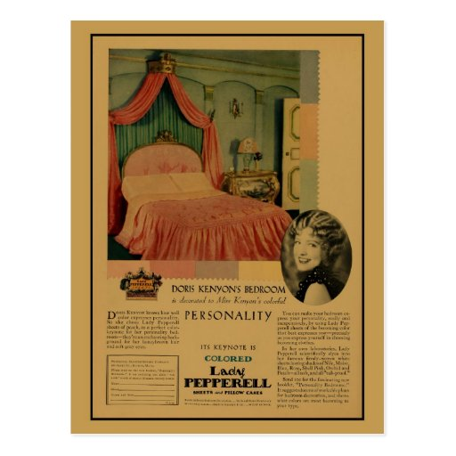 Vintage 1920s sheets and pillow cases magazine ad postcards