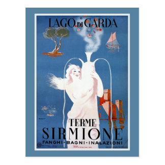 Vintage 1920s Sirmione Italian travel ad Post Card