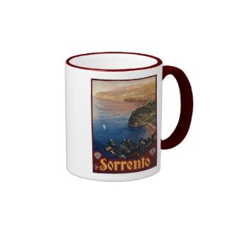 Vintage 1920s Sorrento Italian travel Ringer Coffee Mug