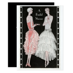 Vintage 1920's Stylish Flappers Bridal Shower Card