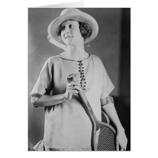 Vintage 1920s Tennis Fashion Card