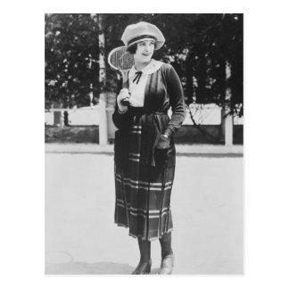 Vintage 1920s Tennis Fashion Postcard