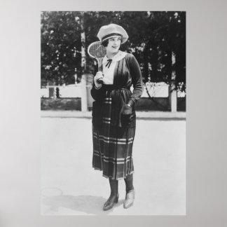 Vintage 1920s Tennis Fashion Poster