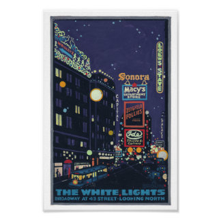 Vintage 1920's Times Square Posterette Poster
