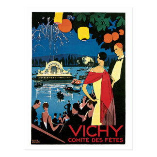Vintage 1920s Vichy French travel ad Postcard