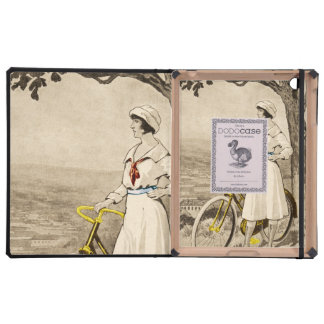 Vintage 1920s Woman Bicycle Advertisement iPad Case