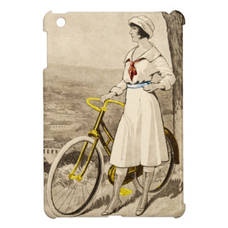 Vintage 1920s Woman Bicycle Advertisement iPad Mini Covers