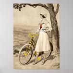 Vintage 1920s Woman Bicycle Advertisement Print
