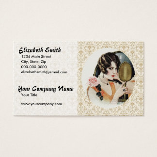 Vintage 1920s Woman Business Card