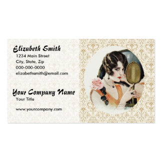 Vintage 1920s Woman Business Cards