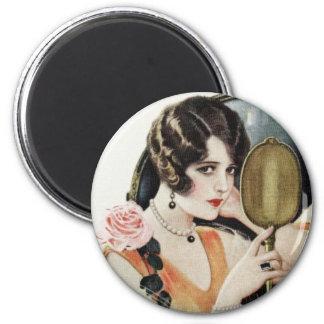 Vintage 1920s Woman Refrigerator Magnet