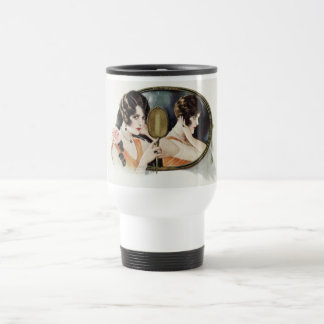 Vintage 1920s Woman Travel Mug
