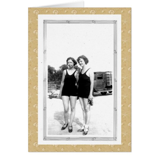 Vintage 1920s Women in Swimsuits Card
