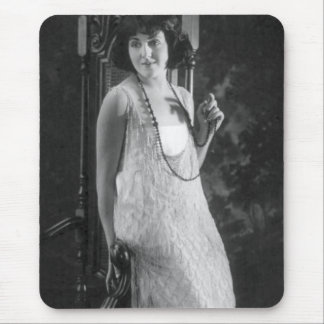 Vintage 1920s Women's Flapper Fashion Mouse Pad