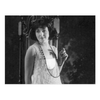 Vintage 1920s Women's Flapper Fashion Postcard