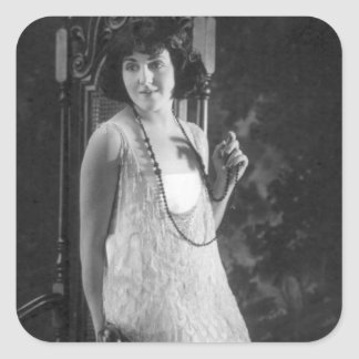 Vintage 1920s Women's Flapper Fashion Stickers