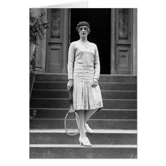 Vintage 1920s Women's Tennis Fashion Card