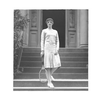 Vintage 1920s Women's Tennis Fashion Memo Notepads