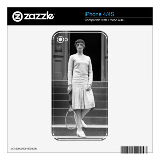 Vintage 1920s Women's Tennis Fashion Decals For iPhone 4S