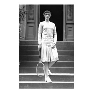 Vintage 1920s Women's Tennis Fashion Stationery