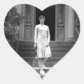 Vintage 1920s Women's Tennis Fashion Sticker