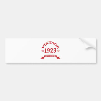 Vintage 1923 Aged to Paerfection Car Bumper Sticker