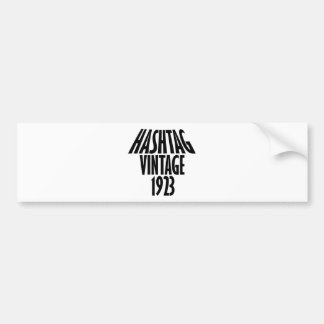 vintage 1923 designs bumper sticker