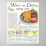 Vintage 1923 que hace publicidad de la impresión d impresiones
