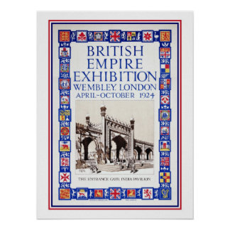 Vintage 1924 British Empire Exhibition advert Poster