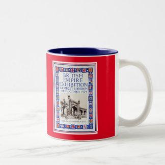 Vintage 1924 British Empire Exhibition advert Two-Tone Coffee Mug